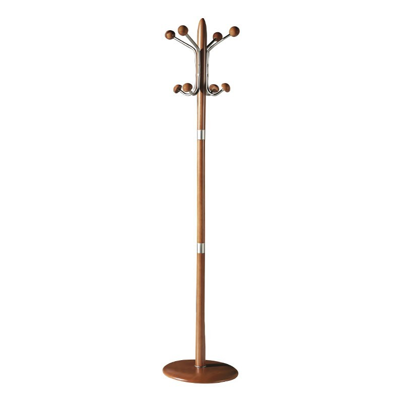 perchero de pie madera metal 8 colgadores 420 - Percheros De Madera