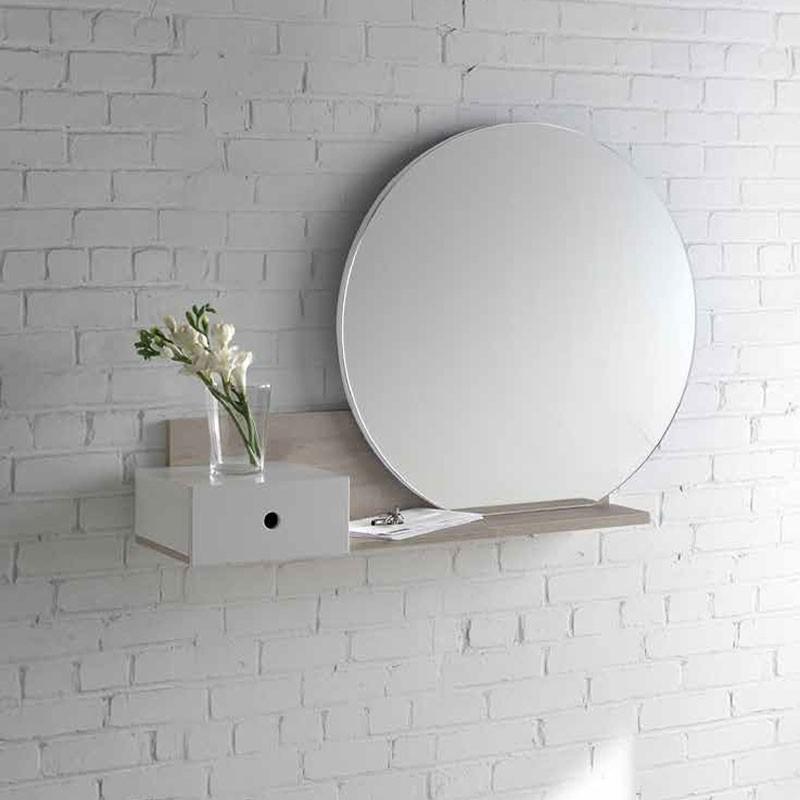 Conjunto recibidor espejo y consola con caj n 777 for Conjunto espejos redondos