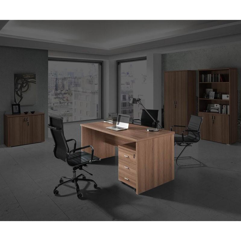 Conjunto de mobiliario en madera para oficina for Conjunto muebles oficina