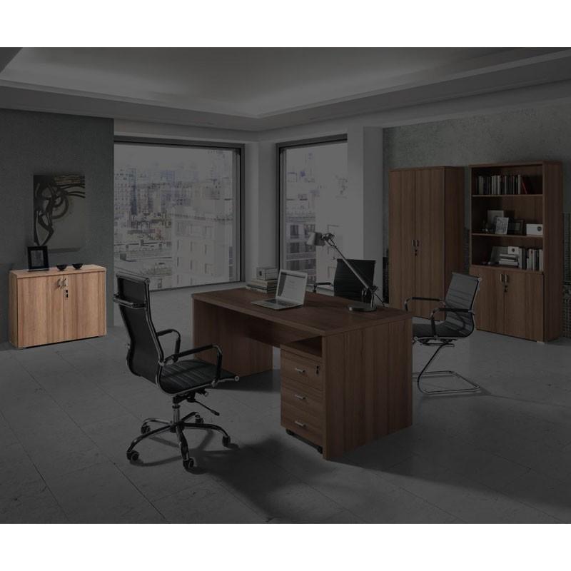 Conjunto de mobiliario en madera para oficina for Compra de mobiliario de oficina
