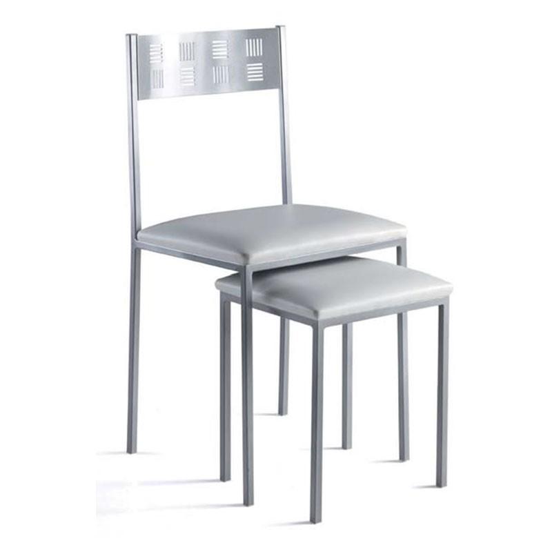 taburete bajo para cocina o comedor con asiento de