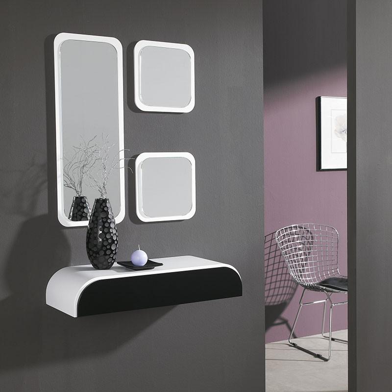 Conjunto recibidor consola espejo grande 2 espejos for Espejo grande recibidor