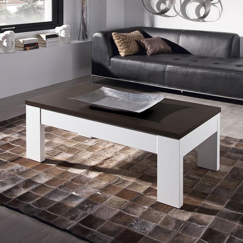 Mesa de centro elevable de madera laminada para sal n 653 - Mesas de centro salon ...