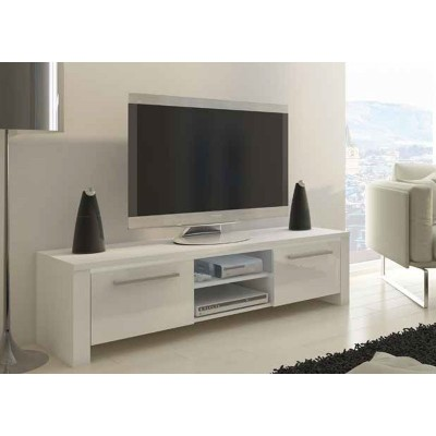 Mueble Bajo TV Blanco 2 Puertas 67170