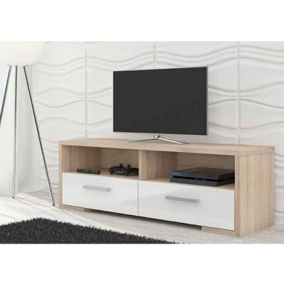 Mueble Bajo TV Cambrian/Blanco 2 Cajones 67220