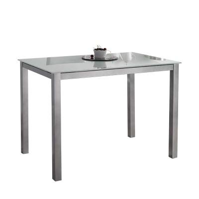 Mesa de Cocina con Cristal Blanco 75760