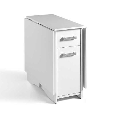 Mesa de Cocina con Alas Plegables Blanca 67400