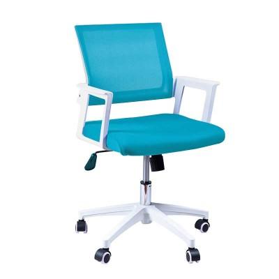Silla de Oficina Azul Vintage y Blanca Office 75320