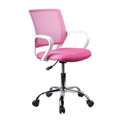 Silla de Oficina Rosa y Blanco Office 75120