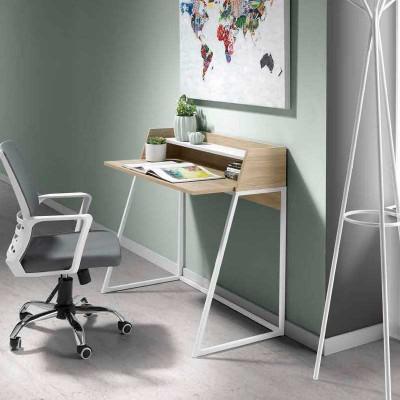 Mesa de Estudio 100 cm Roble y Blanco 74600