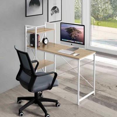 Mesa de Estudio 110 cm Roble y Blanco 74640