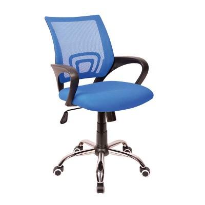 Silla de Oficina Tapizado Azul Office 75444