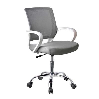 Silla de Oficina Gris y Blanco Office 75121