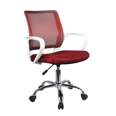 Silla de Oficina Rojo y Blanco Office 75125