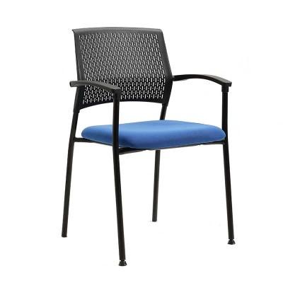 Silla Confidente Urban Negra y Azul con Brazos 75471