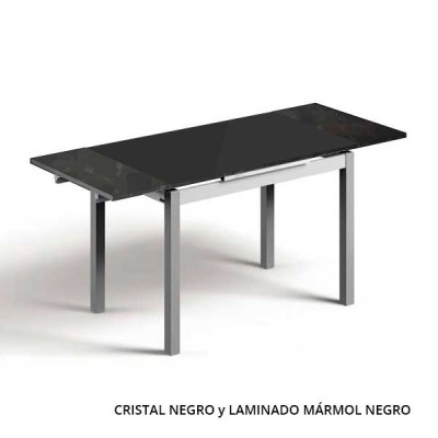 Mesa Extensible de Cristal Sampol