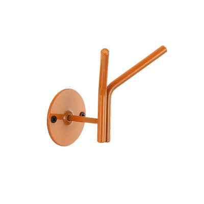 Percha Doble para Pared en Metal Lacado 73202