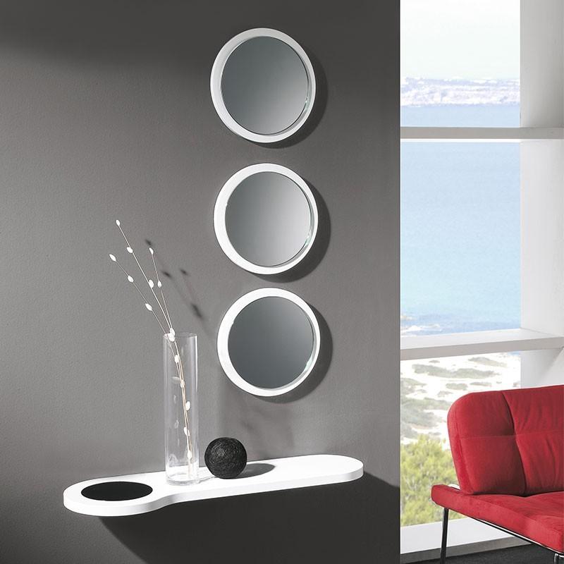 conjunto recibidor consola 3 espejos redondos comprar