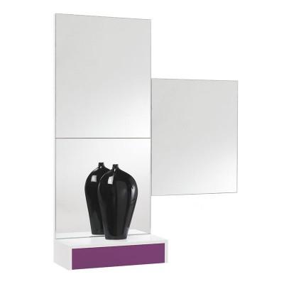 Conjunto Recibidor Cajón + 3 Espejos Cuadrados