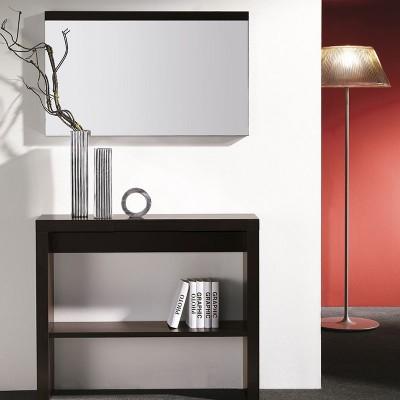 Conjunto Recibidor Mueble con Estante y Cajón + Espejo