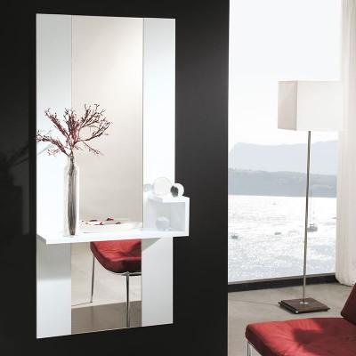 Conjunto Recibidor Estante + Espejo Vertical Alto