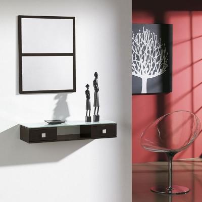 Conjunto Recibidor Espejo + Consola 2 Cajones