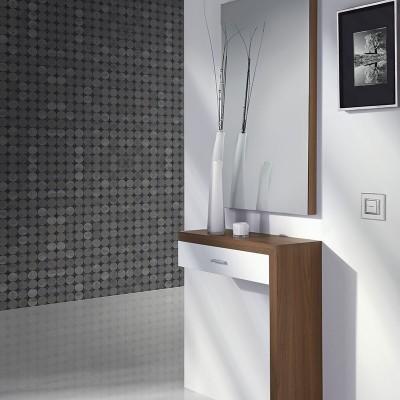Conjunto Recibidor Espejo + Consola con Cajón