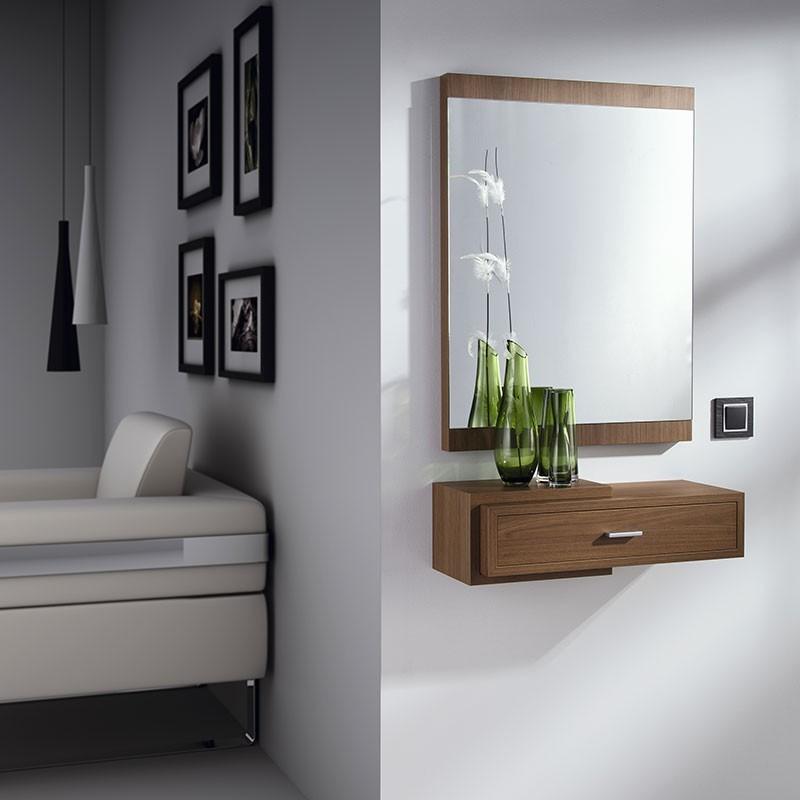 Conjunto recibidor espejo 80x60 consola con caj n 811 830 - Espejos de recibidor ...