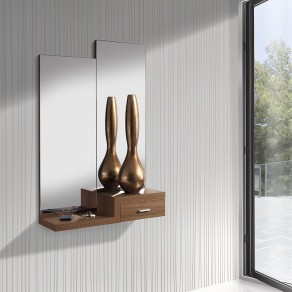 Conjunto Recibidor 2 Espejos + Consola con Cajón