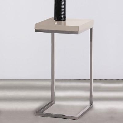 Velador Auxiliar Moderno Madera y Metal Cromado 559